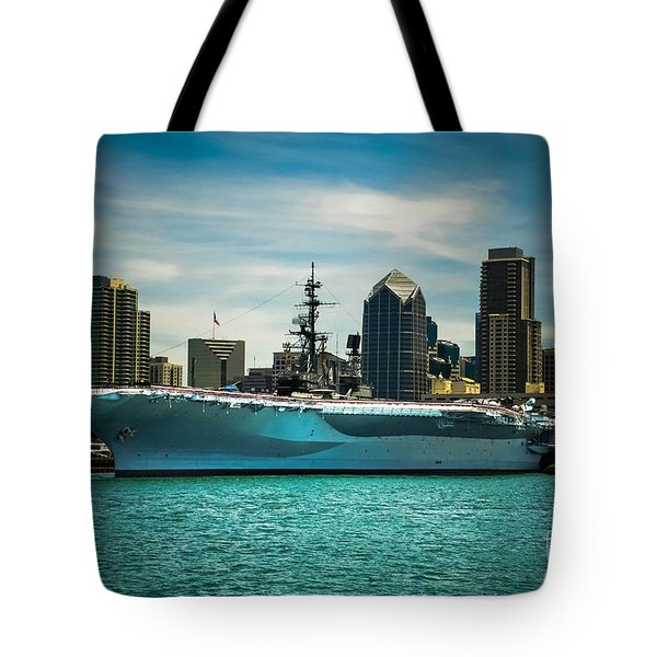 Uss Midway Museum Cv 41 Aircraft Carrier Tote Bag by Claudia Ellis