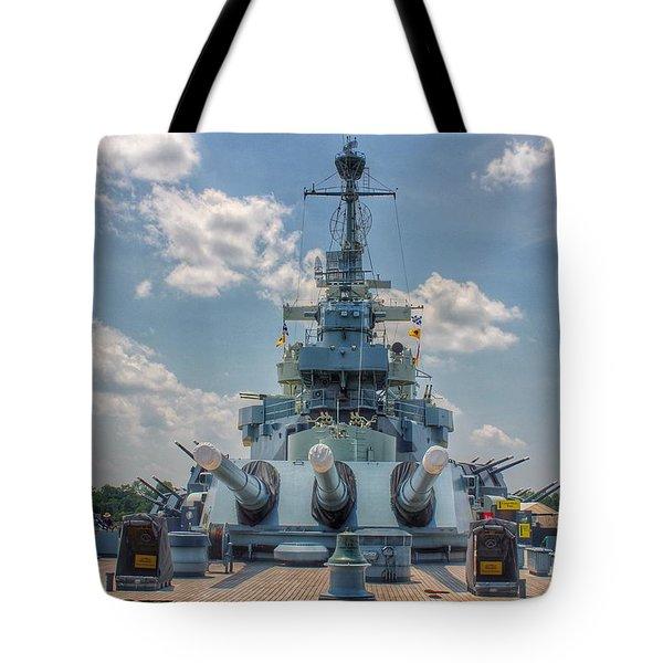 Uss North Carolina Tote Bag