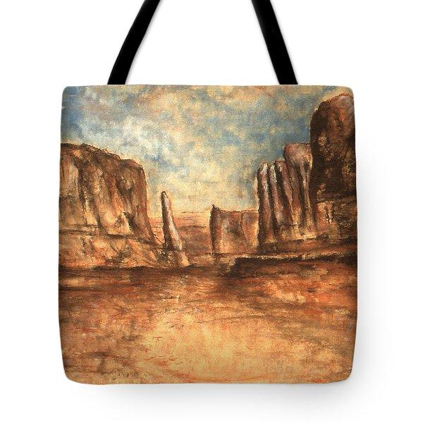Utah Red Rocks - Landscape Art Painting Tote Bag