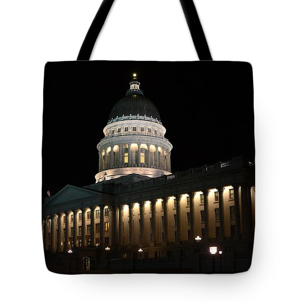 Tote Bag featuring the photograph Utah State Capitol East by David Andersen