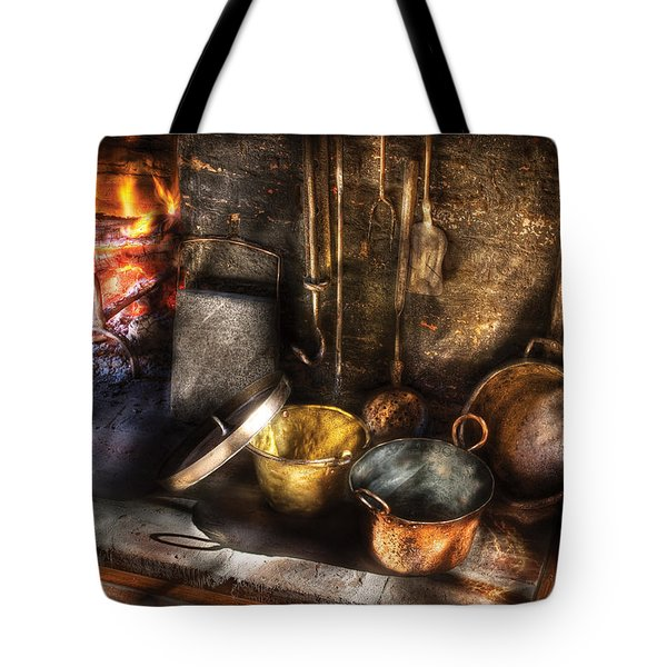 Utensils - Colonial Kitchen Tote Bag by Mike Savad