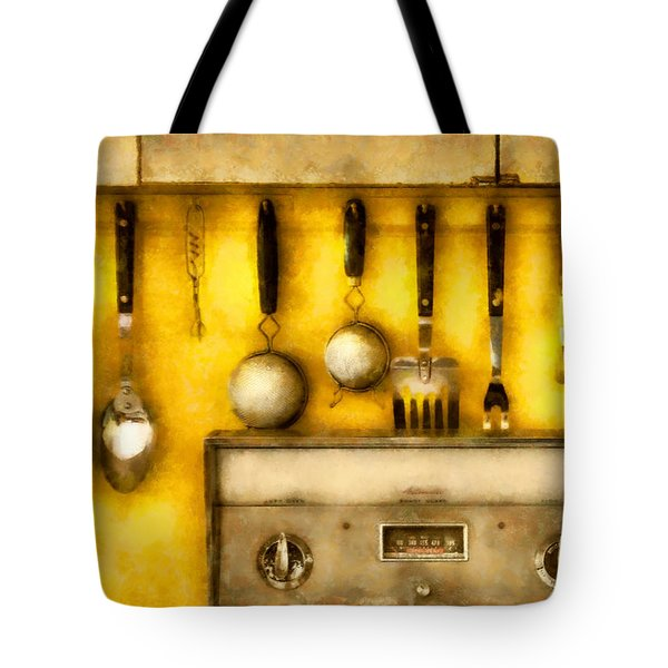 Utensils - The Kitchen  Tote Bag by Mike Savad