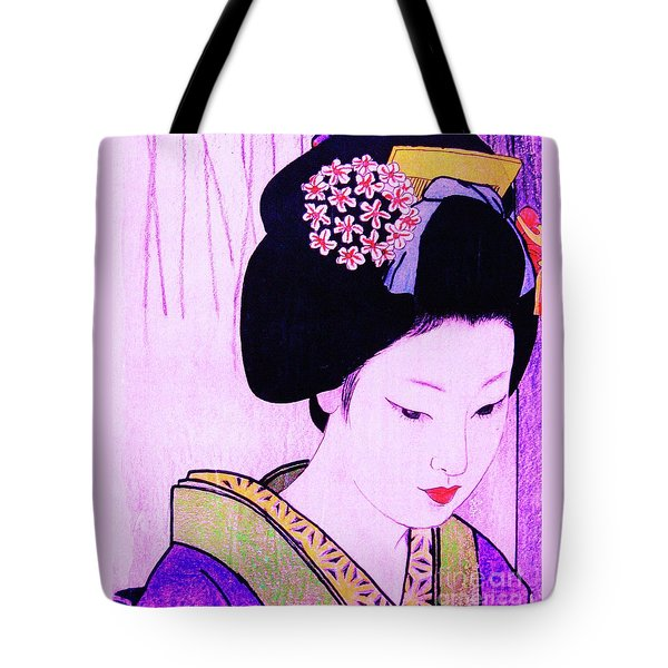 Tote Bag featuring the painting Utsukushii Josei Ichi by Roberto Prusso