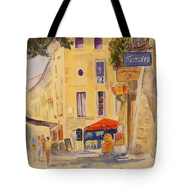 Tote Bag featuring the painting Uzes France by Beatrice Cloake