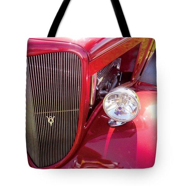 V8 Classic Car Tote Bag