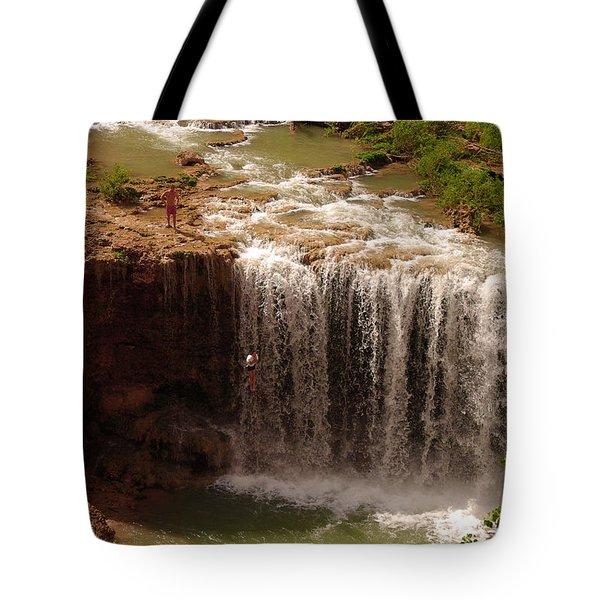 Vacation At Lower Navajo Falls Tote Bag