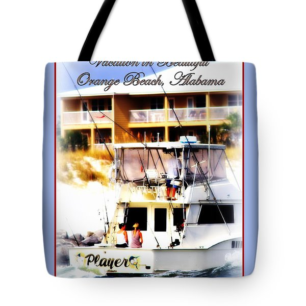 Vacation In Beautiful Orange Beach Alabama Tote Bag by Travis Truelove