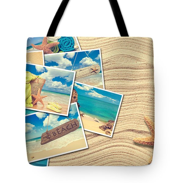 Vacation Postcards Tote Bag by Amanda Elwell