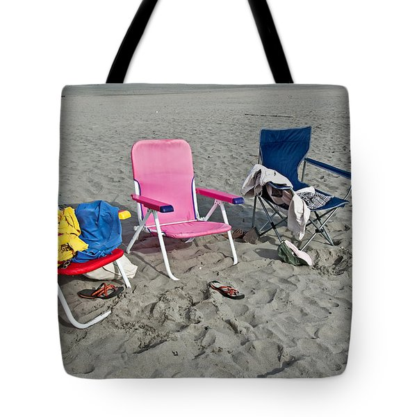 Tote Bag featuring the photograph Vacation Time Beach Art Prints by Valerie Garner