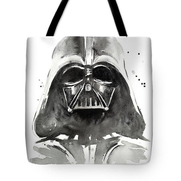 Darth Vader Watercolor Tote Bag