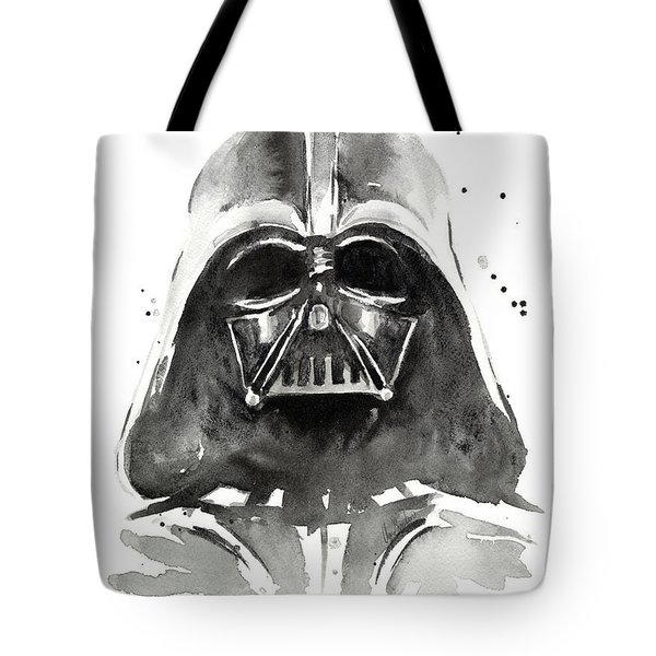 Darth Vader Watercolor Tote Bag by Olga Shvartsur