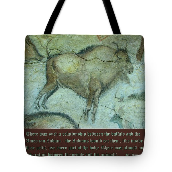 Val Kilmer On The Bison Tote Bag by Unknown