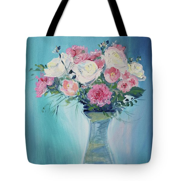 Tote Bag featuring the painting Valentine Bouquet by Asha Carolyn Young