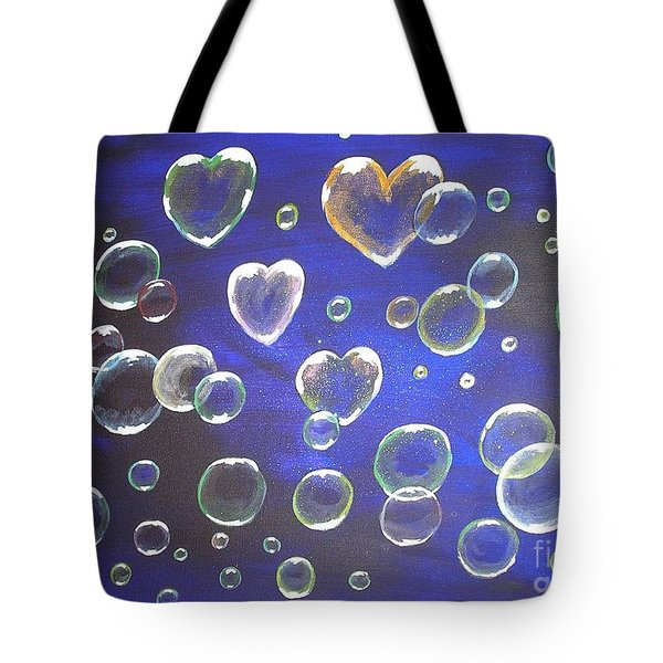 Valentine Bubbles Tote Bag