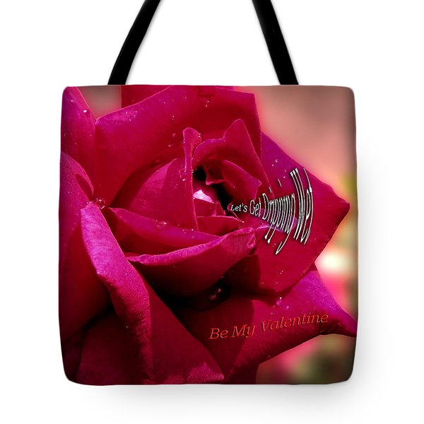 Valentine Dripping Wet Tote Bag by Thomas Woolworth