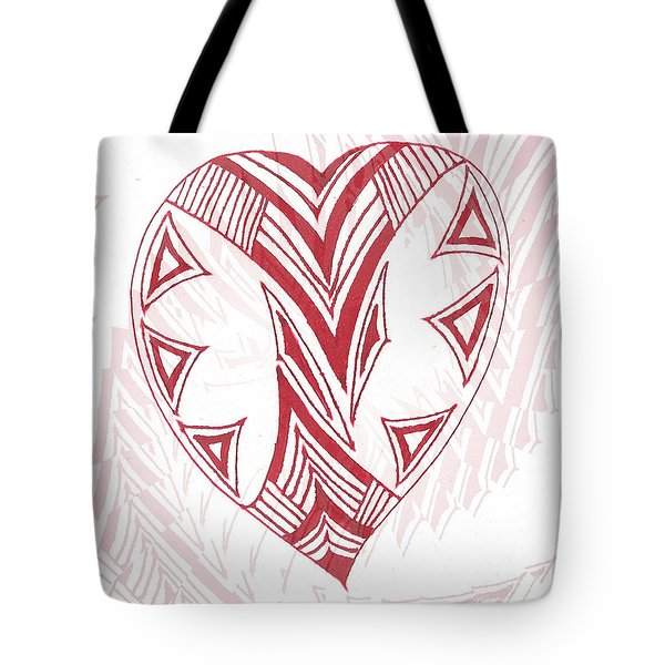 Valentine Heart Tote Bag
