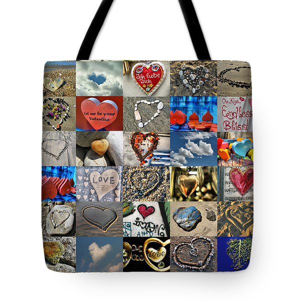 Valentine - Hearts And Memories   Tote Bag by Daliana Pacuraru
