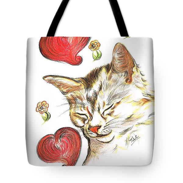Valentine Cat Tote Bag