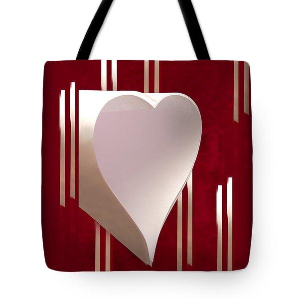 Valentine Paper Heart Tote Bag