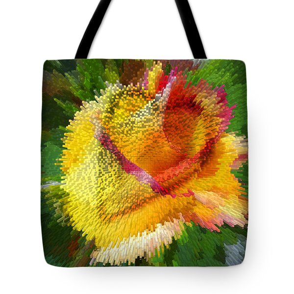 Valentine Rose Tote Bag by Anne Mott