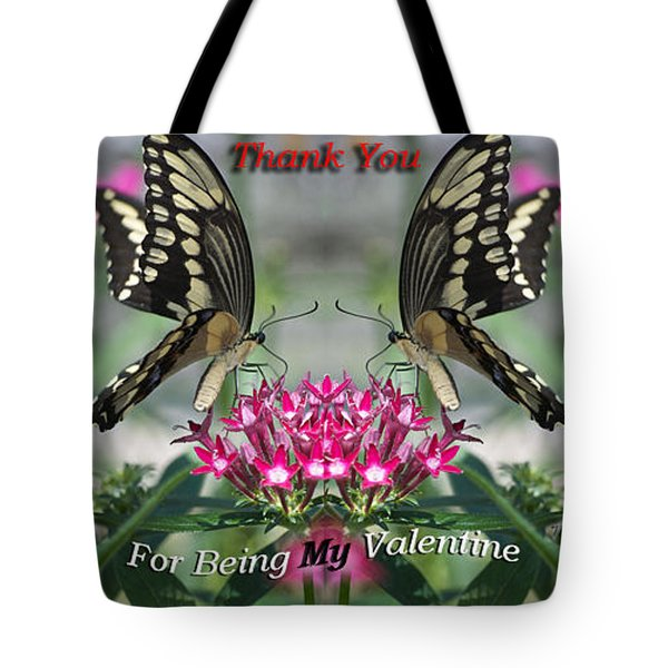 Valentine Thank You Tote Bag by Thomas Woolworth