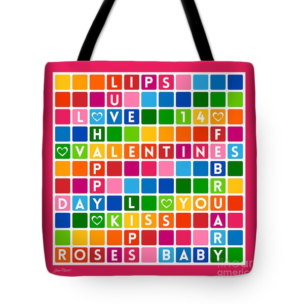 Valentines Crossword Puzzle-jp2455 Tote Bag