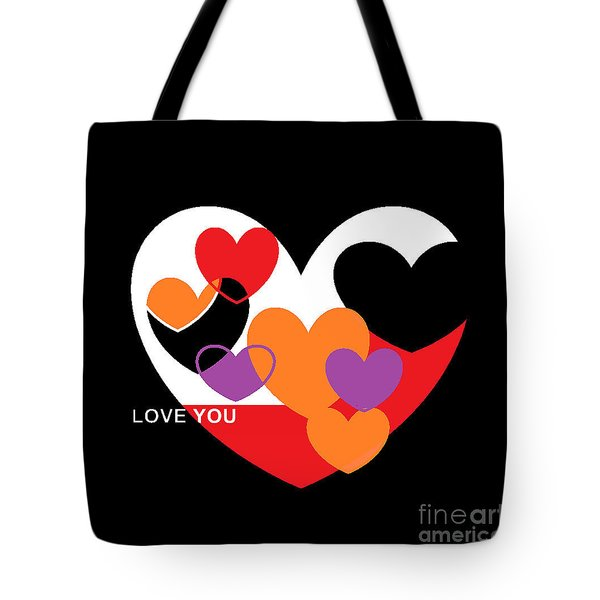 Tote Bag featuring the digital art Valentine's Day by Andrew Drozdowicz