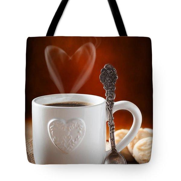 Valentine's Day Coffee Tote Bag by Amanda Elwell