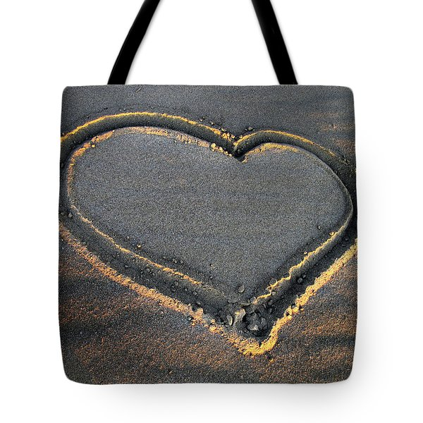Valentine's Day - Sand Heart Tote Bag