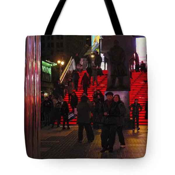Valentine's Day - Times Square Tote Bag by Jeff Breiman