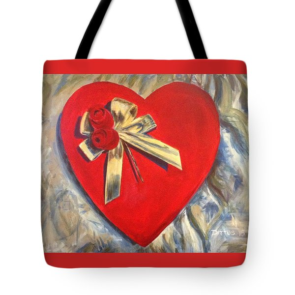 Valentine's Heart Tote Bag by Chrissey Dittus