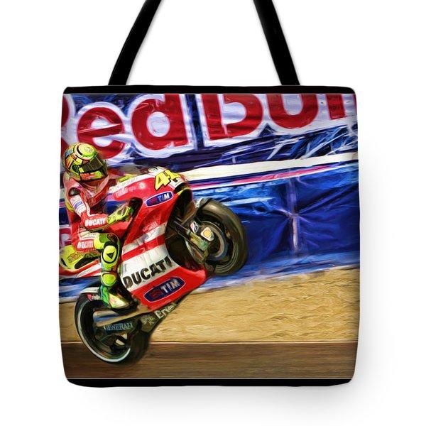 Valentino Rossi Ducati Tote Bag