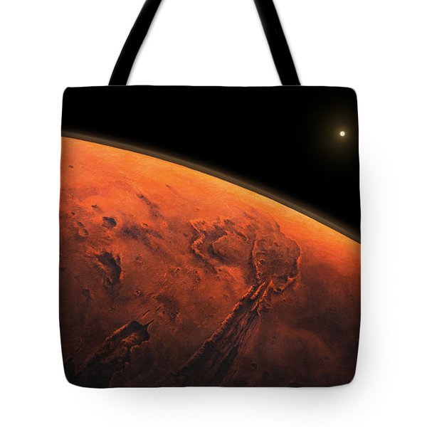 Valles Marineris Sunrise Tote Bag
