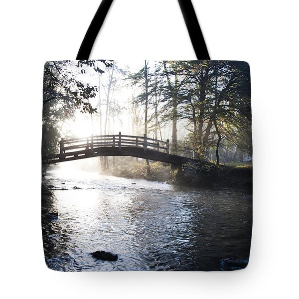 Valley Creek Bow Bridge At Valley Forge Tote Bag by Bill Cannon