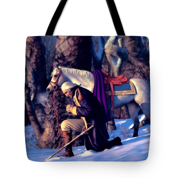 Valley Forge Tote Bag by Dave Luebbert