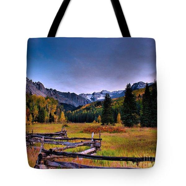 Valley Of Mt Sneffels Tote Bag