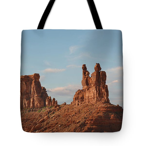 Valley Of The Gods - Escape From Civilization Tote Bag by Christine Till