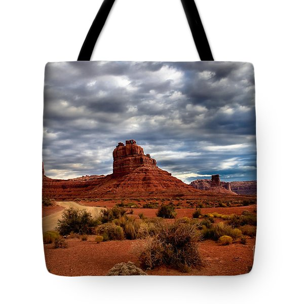 Valley Of The Gods Stormy Clouds Tote Bag by Robert Bales