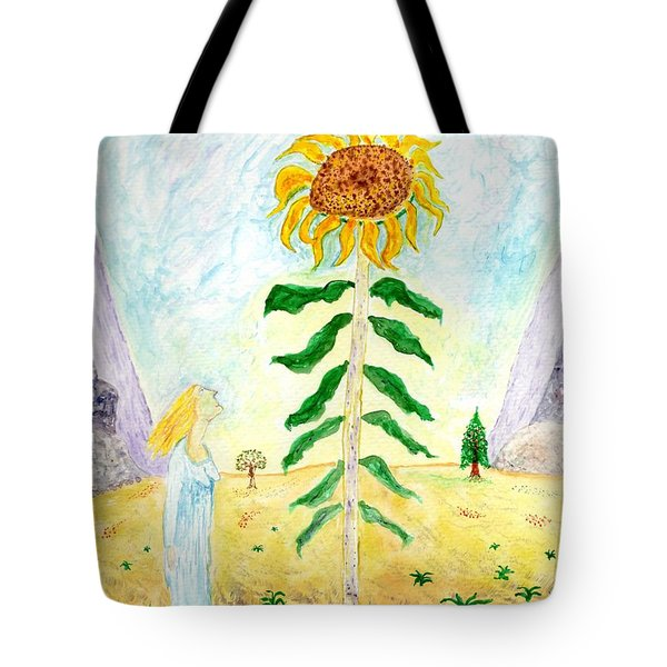 Valley Of The Mammoth Sunflowers Tote Bag