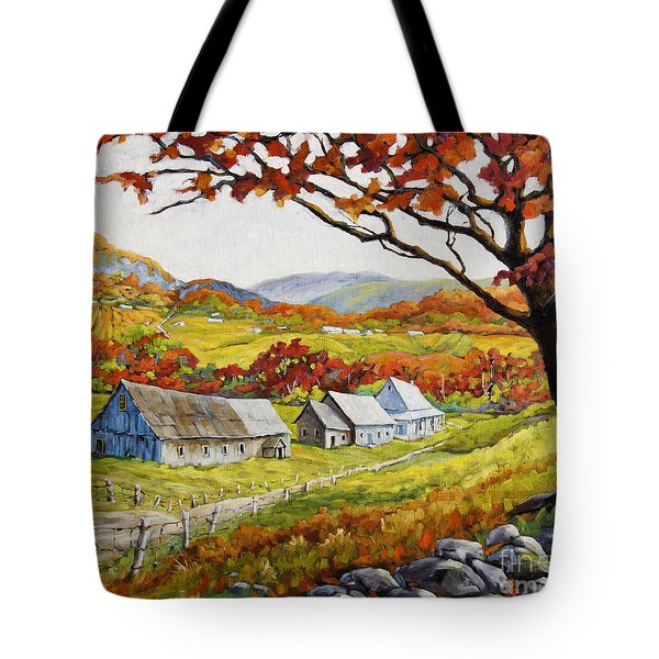 Valley View By Prankearts Tote Bag by Richard T Pranke
