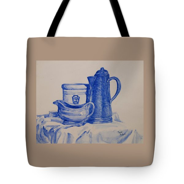 Value Study In Blue Tote Bag by Heidi E  Nelson