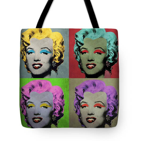 Vampire Marilyn Set Of 4 Tote Bag by Filippo B