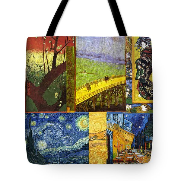 Van Gogh Collage Tote Bag by Philip Ralley