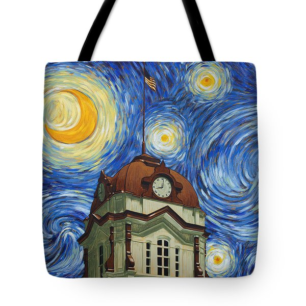 Van Gogh Courthouse Tote Bag