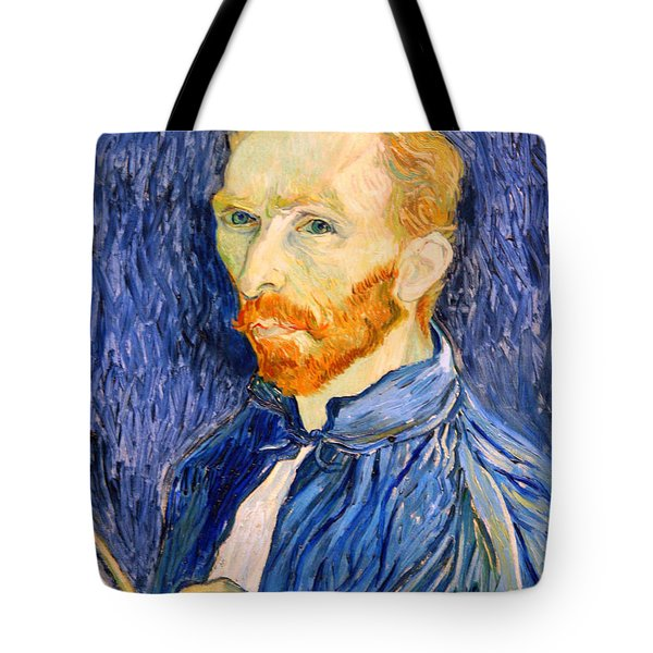 Tote Bag featuring the photograph Van Gogh On Van Gogh by Cora Wandel