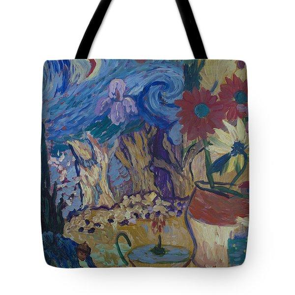 Tote Bag featuring the painting Van Gogh Spirit by Avonelle Kelsey