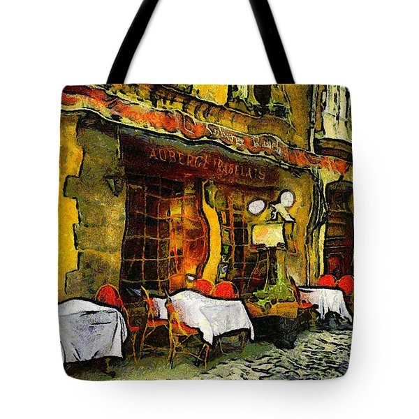 Tote Bag featuring the photograph Van Gogh Style Restaurant by Isabella Howard