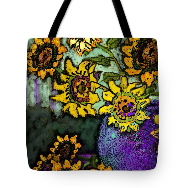 Van Gogh Sunflowers Cover Tote Bag by Carol Jacobs