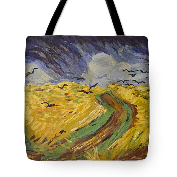 Van Gogh Wheat Field With Crows Copy Tote Bag