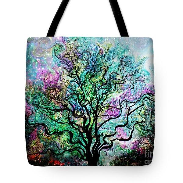 Van Gogh's Aurora Borealis Tote Bag